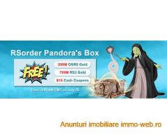 Join in RSorder Pandora's Box to Enjoy Free RS Gold & $15 Voucher