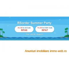 RSorder Summer Party Active Now with 7% Off for RSGold Offered