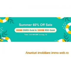 Awsome Price 60% Off Cheap RS Gold to Purchase from RSorder Summer Sale on Aug 10