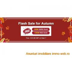 RSorder Early Autumn Flash Sale: RS 2007 Gold for U to Obtain for Free on Sept 7