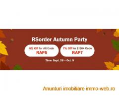Get Prepared for RSorder Autumn Party to Take 2007 Runescape Gold with 7% Discount